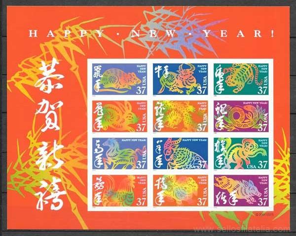 sellos año lunar de USA