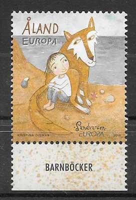 colección sellos tema tema Europa Aland Finlandia 2010