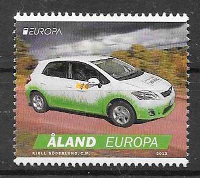colección sellos tema Europa Aland Finlandia 2013