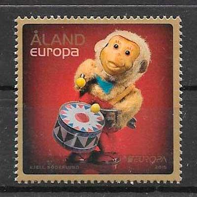 sellos tema Europa Aland Finlandia 2015