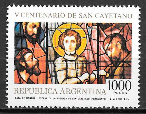 colección sellos arte Argentina 1981