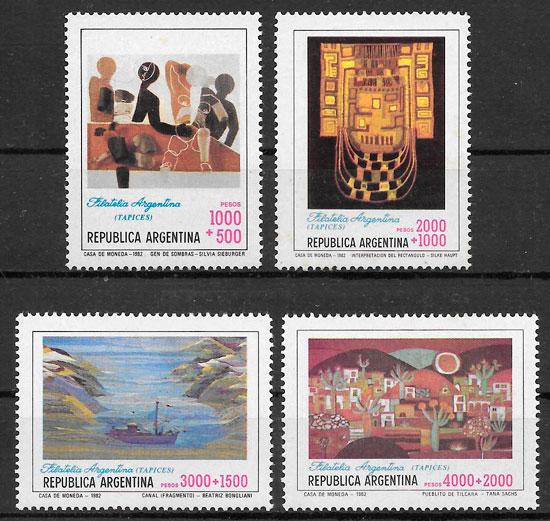 filatelia arte Argentina 1982