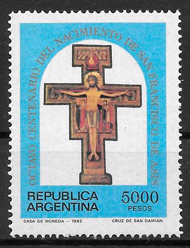 selos arte Argentina 1982