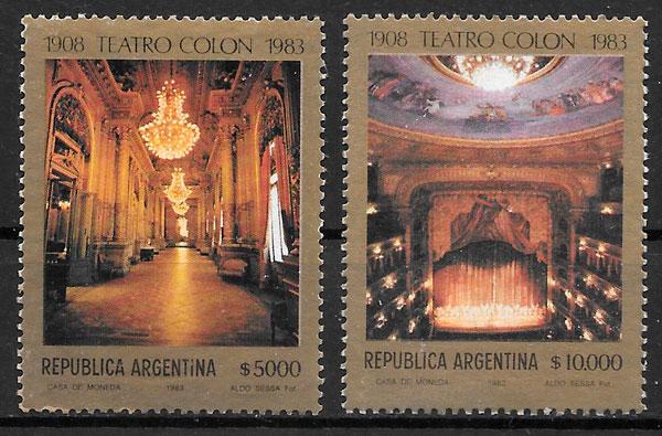 sellos arte Argentina 1983