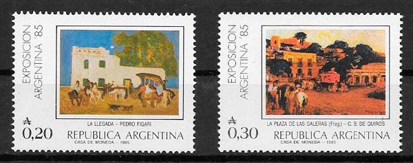 colección sellos arte Argentina 1985