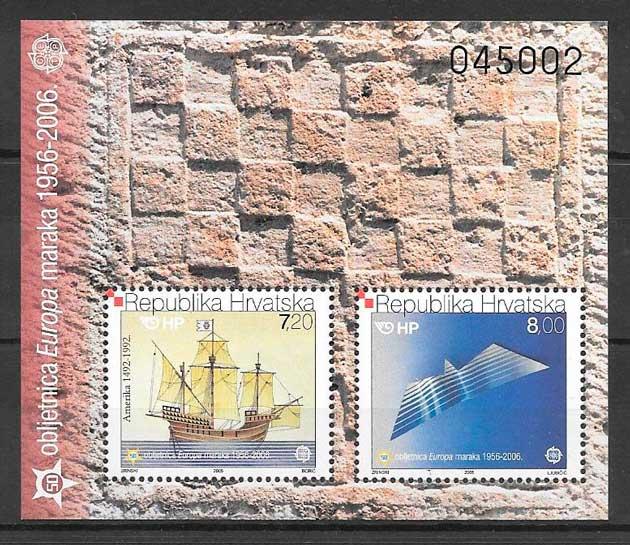 filatelia tema Europa Croacia 2005