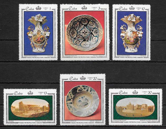 sellos arte Cuba 1971