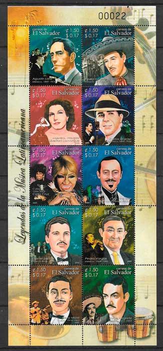 colección sellos arte El Salvador 2005