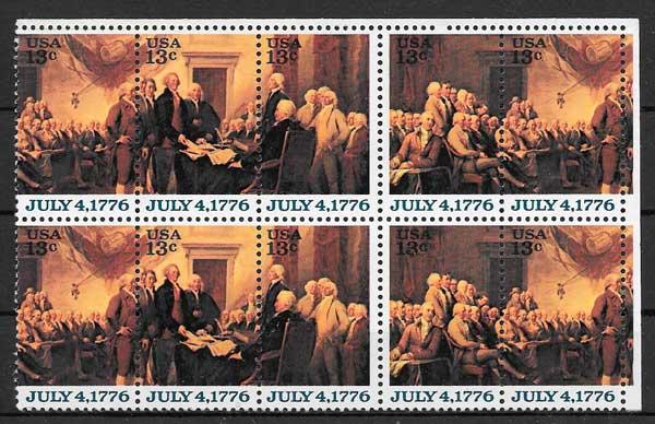 sellos arte EE:UU 1976