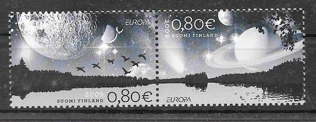 sellos tema Europa Finlandia 2009