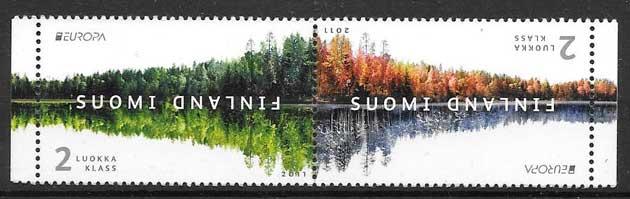 sellos tema Europa Finlandia 2011