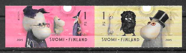 sellos tema Europa Finlandia 2015