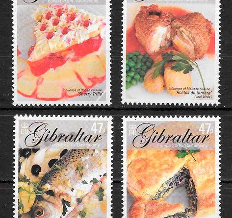 sellos Europa Gibraltar 2005