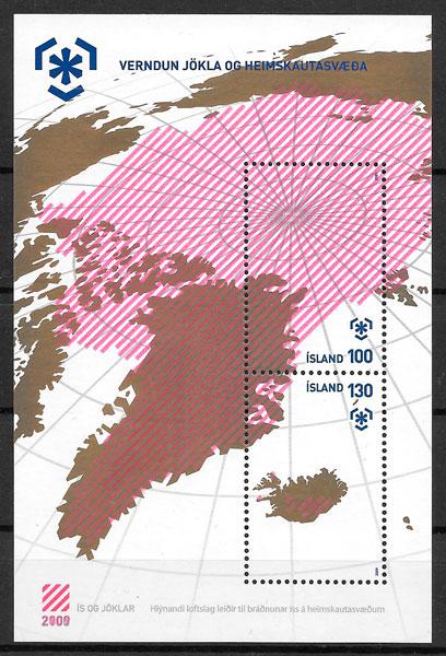 coilección sellos turismo Islandia 2009