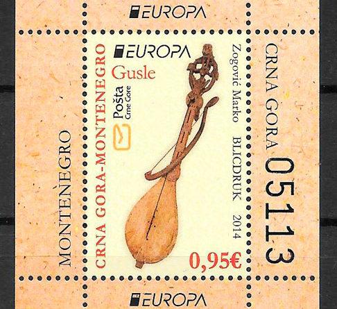 filatelia Europa Montenegro 2014