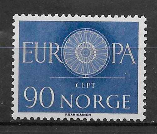sellos tema Europa Noruega 1960