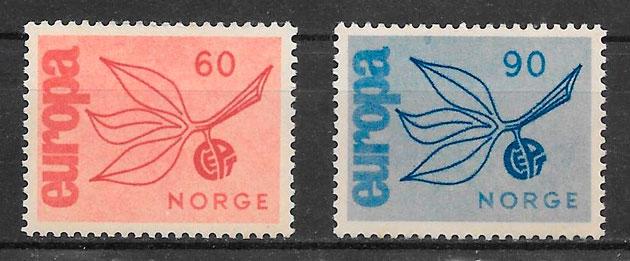 filatelia Europa Noruega 1964
