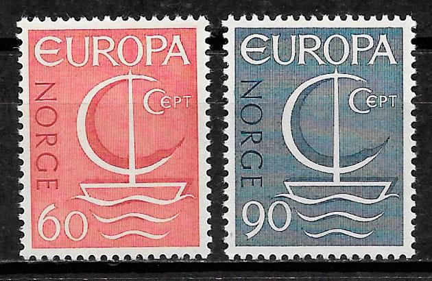 colección selos Europa Noruega 1966