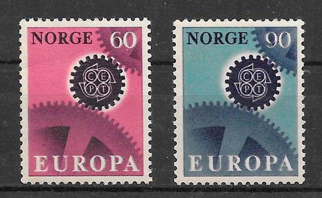 filatelia colección Europa 1967
