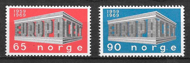 filatelia colección Europa 1969