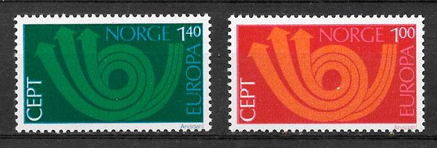 colección sellos Europa Noruega 1973