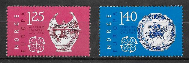 sellos Europa Noruega 1976