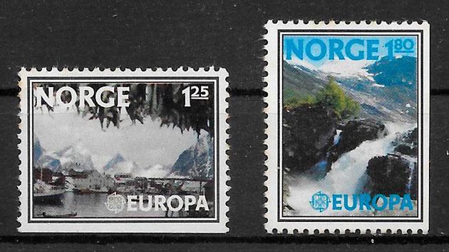 filatelia colección Europa Noruega 1977