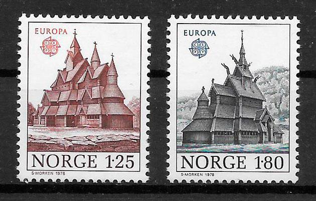 colección sellos Europa Noruega 1978