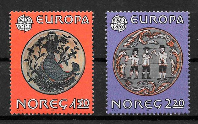 sellos Europa 1981