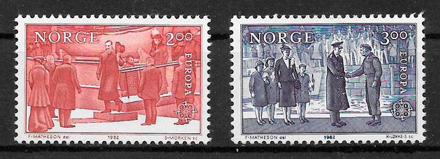 colección sellos Europa Noruega 1982