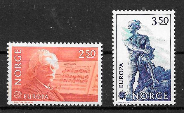 filatelia Europa Noruega 1983
