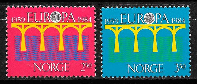 colección selos Europa Noruega 1984