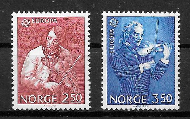 filatelia colección Europa Noruega 1985