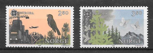 sellos Europa Noruega 1986