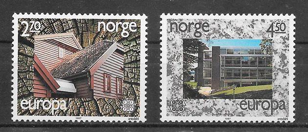 filatelia Europa Noruega 1987