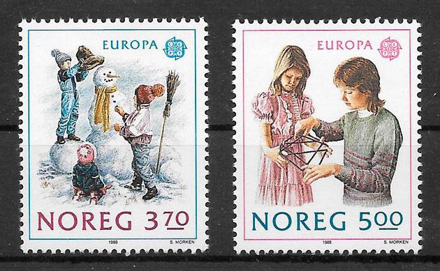 sellos Europa Noruega 1989