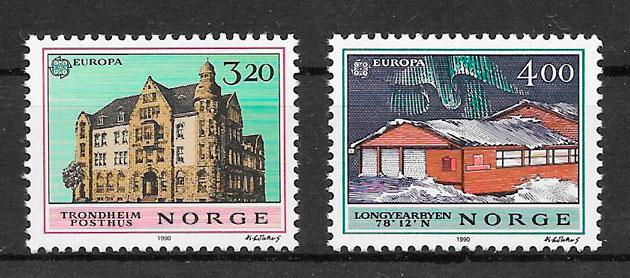 sellos Europa Noruega 1990