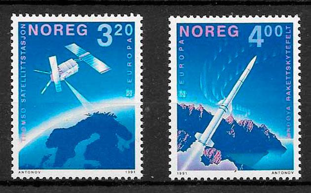 filatelia Europa Noruega 1991