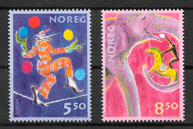 sellos Europa Noruega 2002