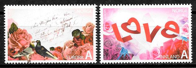 colección selos Europa Noruega 2008