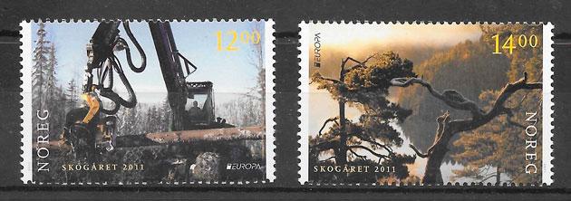 sellos Europa Noruega 2011