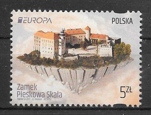 sellos tema Europa Polonia 2017
