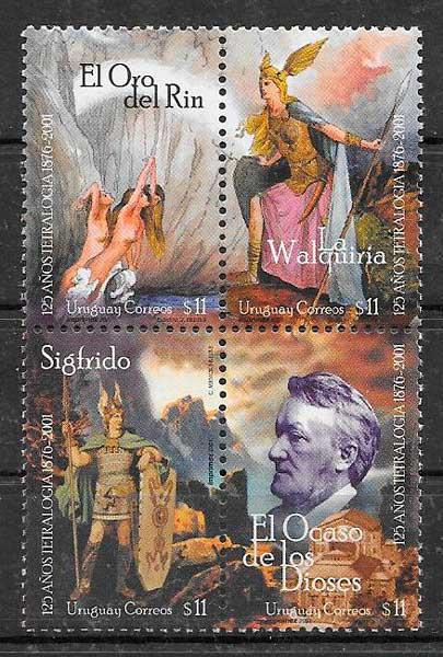 filatelia colección arte Uruguay 2001