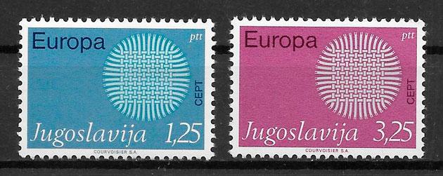 sellos Europa Yugoslavia 1970