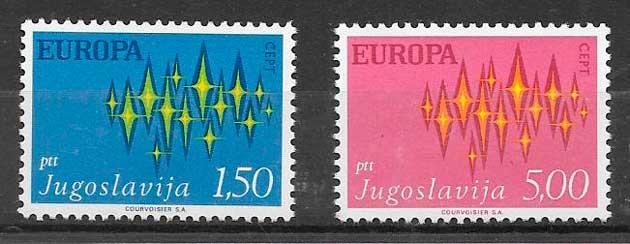 colección sellos Yugoslavia 1972