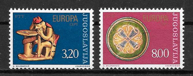 sellos Europa Yugoslavia 1976
