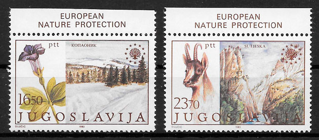 filatelia colección Europa Yugoslavia 1983
