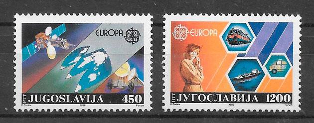 colección sellos Europa Yugoslavia 1988
