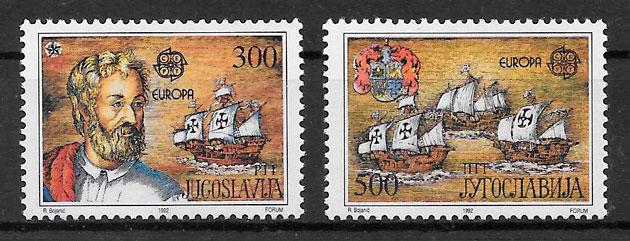 colección sellos Europa Yugoslavia 1992