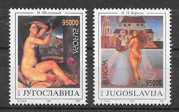 colección sellos Europa Yugoslavia 1993